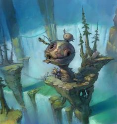 Hog Heaven- The Art of Todd Harris: Tak Environments