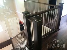 Best Oak Newel Post Shaker Installed And Stained Railings 640 x 480