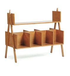 Giuseppe Piombanti Ammannati; Wooden Bookshelf, c1950.