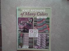 KNIT AFGHANS OS MANY COLORS 15 Patterns
