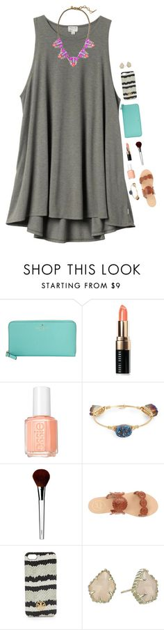 """I'm sick  please RTD!!"" by graciegerhart7 ❤ liked on Polyvore featuring H&M, Kate Spade, Bobbi Brown Cosmetics, Essie, Bourbon and Boweties, Clinique, Jack Rogers, Tory Burch, Kendra Scott and Pippa"