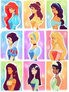 Side face- Disney princesses