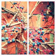 Wand mit Beeren