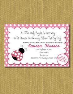 Lady Bug Baby Shower Invitation by FireFlyDesigns0000 on Etsy, $10.00
