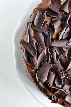 Three Layer Chocolate Cake With Milk Chocolate Ganache Chocolate Buttercream Cake, Milk Chocolate Ganache, Chocolate Shop, Chocolate Factory, Just Desserts, Delicious Desserts, Chocolat Cake, Simply Recipes, Simply Food