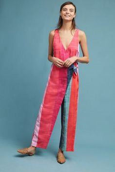 95de211aac9 Anthropologie Mara Hoffman Striped Wrap Jumpsuit Wrap Jumpsuit