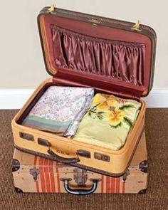 Suitcase as Linen Storage
