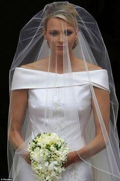 Bouquet de mariage de Charlène Wittstock