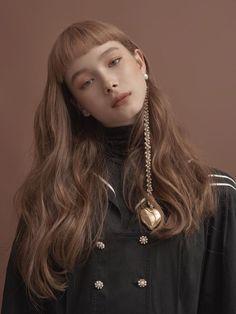New Hair Styles Korean Short Bangs 37 Ideas Trendy Haircuts, Long Bob Hairstyles, Hairstyles With Bangs, Drawing Hairstyles, Hairstyles 2018, Korean Hairstyles, Bob Haircuts, Layered Haircuts, Short Bangs