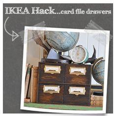 IKEA Hack…Card File Drawers