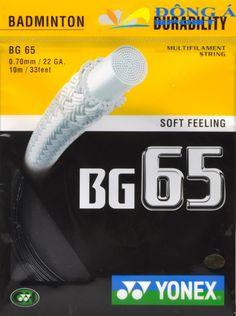 Thể Thao Đông Á cung cấp dây đan vợt cầu lông Yonex BG 65, các loại dây căng vợt chính hãng, tốt nhất thị trường hiện nay >> Liên hệ: 0976.066.222