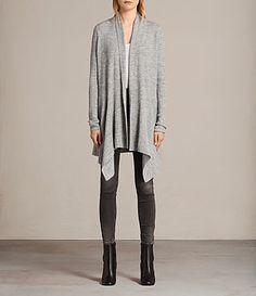 Womens Keld Olivo Cardigan (Grey Marl) - Image 1