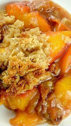 Peach Crisp - a delicious Southern dessert!