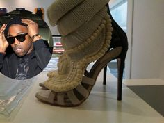 Kanye is really obsessed with fashion!     Now, Kanye West is preparing to TAKE OVER Paris runways with his Spring 2012 collection clothing line. What many people are talking about is kanye's soon-to hit stores $5,800 beaded shoe which he co-designed with Italian designer Giuseppe Zanotti. #giuseppezanottiheelskanyewest