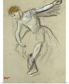 A Dancer in Profile (chalk) by Edgar Degas//