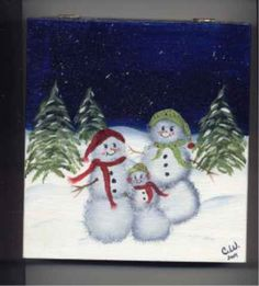 One Stroke Painting Projects Beginners | carols snowman 1st project dec 2004 1st project dec 2004