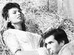 Sophia Loren and Anthony Perkins in Desire Under the Elms (1958)