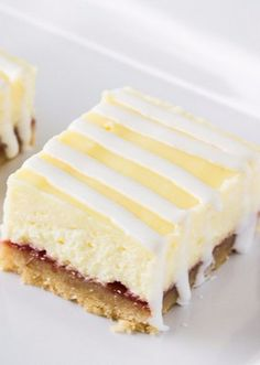 Strawberry Lime Cheesecake Bars - Deliciously Sprinkled