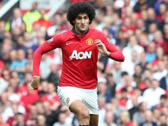 Anderson makes way on the half hour mark as Marouane Fellaini comes on to make his Manchester United debut against Crystal Palace on 14th. Sept. 2013