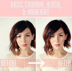 Makeup Monday: Basic Contour, Blush, and Highlight Tutorial.