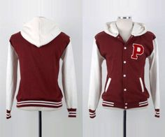 Varsity Letternman Hooded Casual Baseball Red Jackets For Men