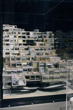 Richard J. Dietrich    Metastadt Building System   1970  Architecture model exhibition in german architecture museum Frankfurt 2012. Model - Werkzeug, Fetisch, kleine Utopie Photographed byFrank Dinger