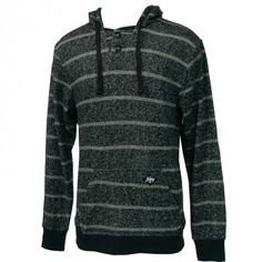 Billabong Mens Sweatshirt Relix Henley Black