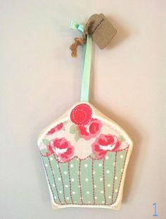 polka dot, rose, heart, cherry, cupcake print lavender bag; 100% cotton pouch