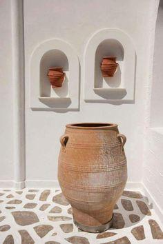 terra ƈ ᴼ ᵀ ᵀ ᴬ living Mediterranean Architecture, Mediterranean Decor, Organic Architecture, Exterior Design, Interior And Exterior, Olive Jar, Greek House, Tadelakt, Parasols