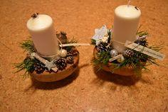 Svícen -Vánoce v kokosu