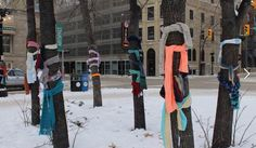 """Chase the Chill Chase the Chill is an organization dedicated to keeping the homeless warm throughout the winter by """"yarn-bombing,"""" i. leaving colorful knitted or crocheted creations around cities."""