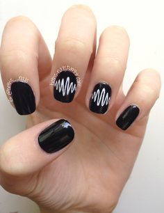 Imma do this Black Stiletto Nails, Black Coffin Nails, Black Nail, Matte Black, Halloween Nail Designs, Halloween Nail Art, Creepy Halloween, Fall Halloween, Cute Nails