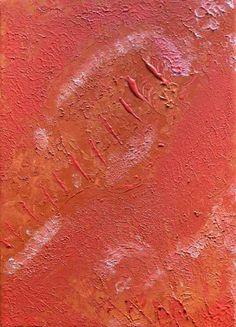 Tracce  Autore Simona Iapichino Acrilico su tela 25 cm x 35 cmGenesi di vita, traccia del seme fertile  nell'arido deserto.  Traccia di un padre solo  che attende il proprio figlio.