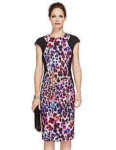 Precis black pin dot dress