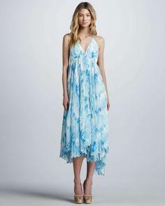 Alice+Olivia Adalyn Printed Maxi Dress