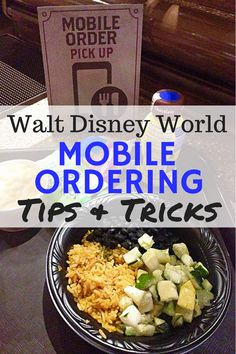 Best restaurants and Disney dining -- Tips and tricks for Mobile Ordering at Walt Disney World! How to have the best possible dining experience with new Mobile Order in the My Disney Experience app. Disney World Restaurants, Walt Disney World Vacations, Disney World Resorts, Disney Travel, Disney Parks, Family Vacations, Disney Cruise, Disney College, Orlando Disney