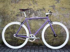 Matt Purple Snake Fixed Gear Bike-- color idea Fixed Gear Bicycle, Bicycle Race, Motorcycle Bike, Purple Snake, Push Bikes, Cherub, Gears, Cycling, Bikers