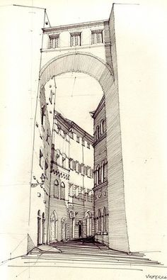 Interesting Find A Career In Architecture Ideas. Admirable Find A Career In Architecture Ideas. Drawing Sketches, Art Drawings, Pencil Drawings, Drawing Ideas, Pen Sketch, Sketching, Art Et Architecture, Classical Architecture, Creation Art