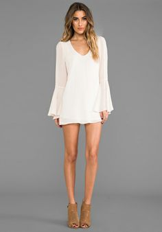 SHOW ME YOUR MUMU Barry Bell Dress in Cream at Revolve Clothing - Free Shipping!