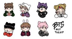 BTS Not Today ✨ #Jin #JHope #Rapmonster #V #Suga #Jungkook #Jimin #fanart #bts #bangtanboys #nottoday Chibi, Kawaii, Bts Chibi, Tumblr Stickers, Cartoon, Fan Art, Chibi Drawings, Anime Chibi