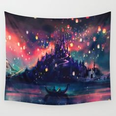 Wall Tapestry featuring The Lights by Alice X. Zhang