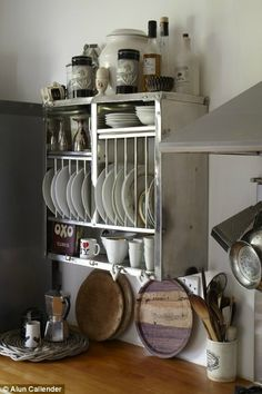 Nice version of a small cabinet used for dish storage