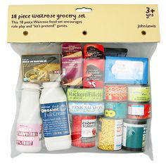 Buy John Lewis 18-Piece Waitrose Grocery Set Online at johnlewis.com £8