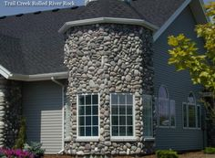 Rolled River Rock | Kodiak Mountain Stone Stone Gallery, Manufactured Stone, How To Dry Basil, Rolls, Mountain, Herbs, Outdoor Structures, River, Bread Rolls