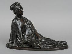 Estatua Japonesa em bronze do sec.19th, Periodo Meiji, 27,5cm de altura, 3,850 USD / 3,440 EUROS / 13,780 REAIS / 24,590 CHINESE YUAN https://soulcariocantiques.tictail.com