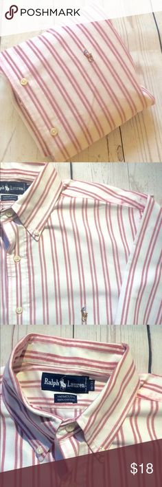"""Polo•Ralph•Lauren•L•Shirt•2 for $40 bundle special: 2 for $40men's  long sleeve button front 100% cotton oxford shirt•16/33 Yarmouth per tag•measuring like a size large•Signature pony at chest•no fraying• some color bleeding on seams, as pictured• Chest: 27"""" Length: 34"""" Sleeve: 34"""" Shoulder: 20.5"""" Polo by Ralph Lauren Shirts Casual Button Down Shirts"""