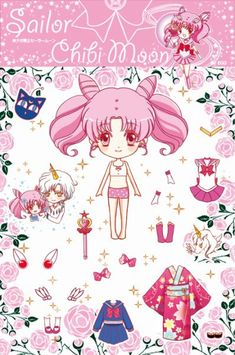 Every kind of nerdery imaginable. Paper Doll Costume, Paper Doll Craft, 3d Paper Crafts, Paper Toys, Sailor Moon Crafts, Sailor Moon Fan Art, Sailor Chibi Moon, Pink Moon, Vintage Paper Dolls