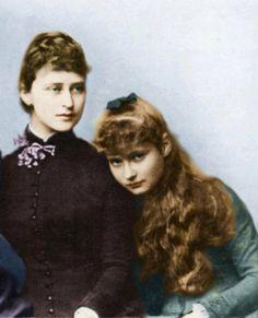 Ella of Hesse and sister Alix of Hesse