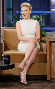 Scarlett looking fab on Jay Leno