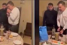На столі – хінкалі, хліб і горілка: з'явилося відео арешту Саакашвілі